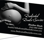 Business Cards for Dedicated Doula Services