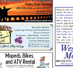 print ads for the Ocean Shores Business Directory