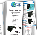 print catalogs and brochures for Planet Headset