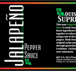 Bottle label for Luisiana Supreme Hot Sauces