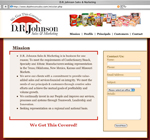 D.R. Johnson Sales & marketing website design
