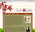 Sushi & Sake website design
